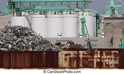 recycling facility - Pile of scrap metal at a recycling...