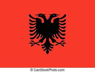 Albania flag vector - Albania flag