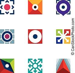 Success business arrow extension creative logo startup idea...