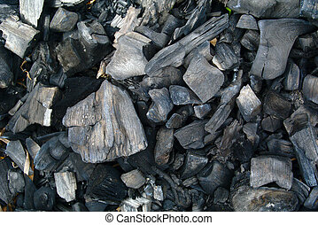 Cooled charcoal - Cooled black charcoal background