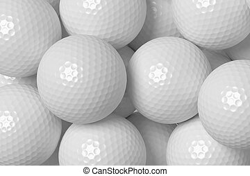 Golf balls background - Heap of white golf balls background,...