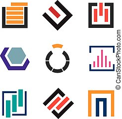 Abstract creativity for professional logo company icon set