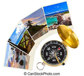 Summer beach shots and compass