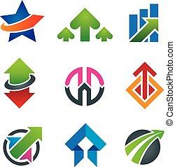 Up star arrow business marketing an