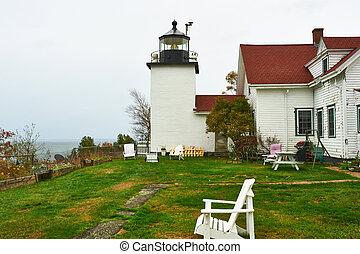 Lighthouse at Acadia National Park, Maine, USA