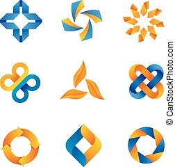 cool loopable logos and icons