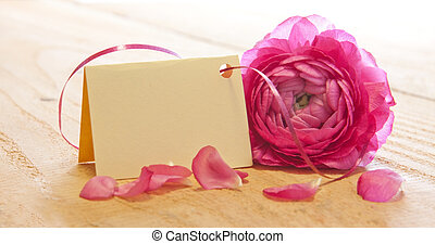 Mother day card - Pink rose and Mother day card