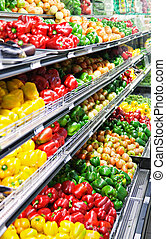 fresh vegetables - plenty of fresh healthy vegetables in the...