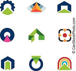 Into the success business point arrow building economic goal...