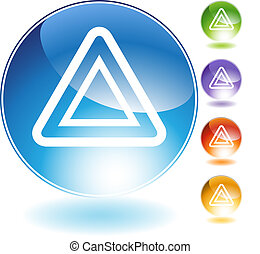 Hazard Crystal Icon - Hazard crystal icon isolated on a...