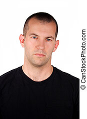 Depressed Expression - A handsome man with a depressed...