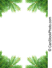 Christmas framework - Christmas green framework isolated on...