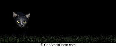 Black cat eyes - 3D render
