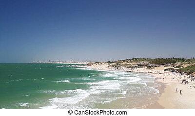 Mediterranean sea in Israel . - Beautiful views of the...
