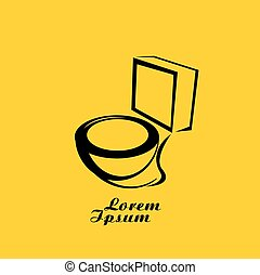 vector Toilet symbol toilet sign toilet bowl