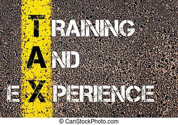 empresa / negocio, siglas, impuesto, como, entrenamiento, y,...