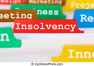 Insolvency, bankruptcy or liquidation business concept...