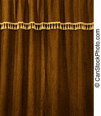 Brown velvet certain - Brown velvet closed certain pattern...