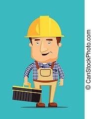 Electrical maintenance technician worker human job...