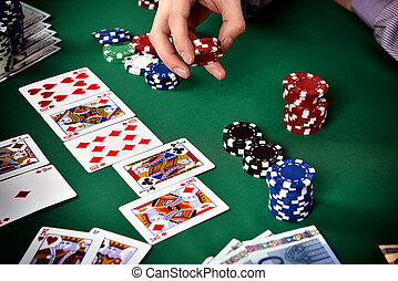 poker game - successful combination of poker cards, poker...