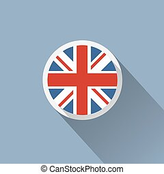 UK Flag Button Icon