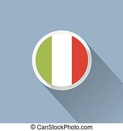 Italy Flag Button Icon