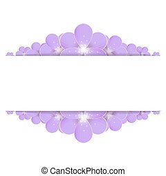 Lilac flowers border