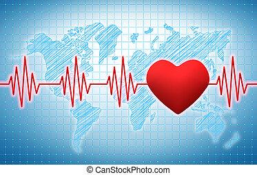 corazón, ritmo,