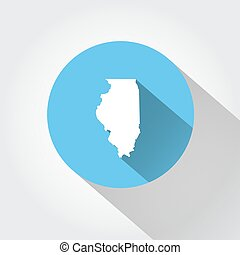 Map state of Illinois