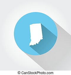 Map state of Indiana