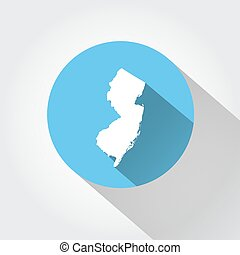 Map state of New Jersey