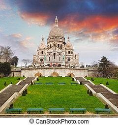 cuore,  basilica, parigi, francia,  Sacre,  Montmartre