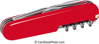 Swiss army knife. Vector illustration