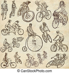 Cycling - Freehand sketches, collection - CYCLING and...