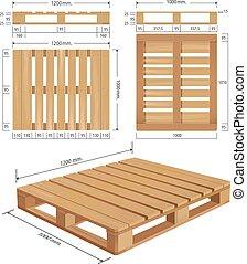 American standard pallet views - American wooden pallet in...