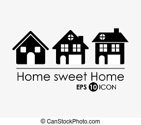 Sweet Home design - Home and urban design, vector...