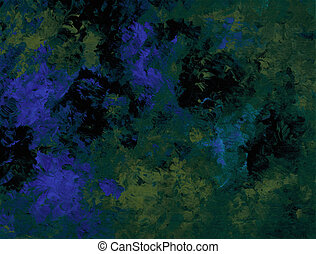Metallic Blue - Abstract texture in shades of blue and green