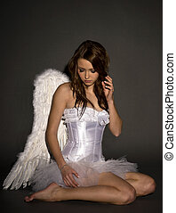 Angel - pretty woman in a angel costume