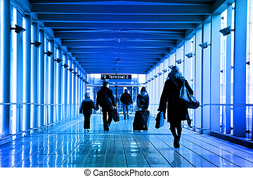Passengers at the airport