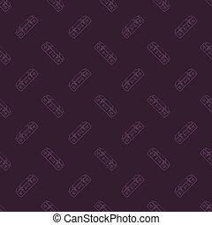 old suitcase pattern - Seamless pattern with an old suitcase...