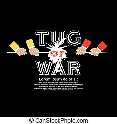 Tug Of War - Tug Of War Vector Illustration EPS10