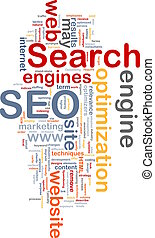 SEO word cloud - Word cloud concept illustration of SEO...