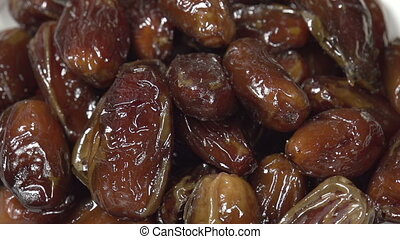 Handful of Dates - Front of the camera rotates plate with...