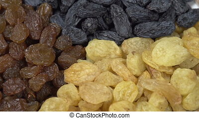 Three Kinds of Raisins - Front of the camera rotates plate...