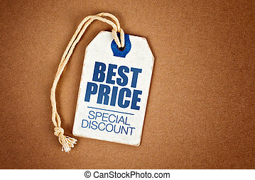 Best Price Special Discount Vintage Tag Label on Brown...