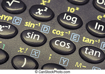 trigonometry math - trigonometry functions push buttons of...