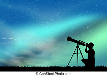 look in the telescope