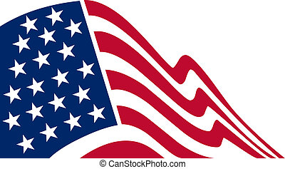 American flag, color Illustration