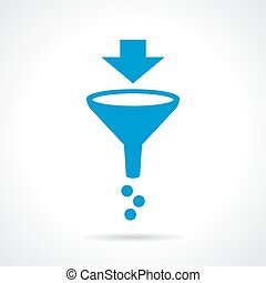 Funnel filter icon - Funnel filter vector icon