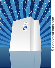 shopping bag  - white shopping bag